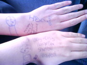 vicky and my hand