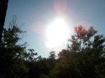 Here I was just thinking the sun appeared strange looking to me...a buldge lower left