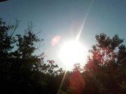 This is when I first noticed the disc comiming what appeared to be out of the sun. about 8:30Am