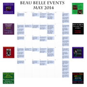 May 2014 Beau Belle Events
