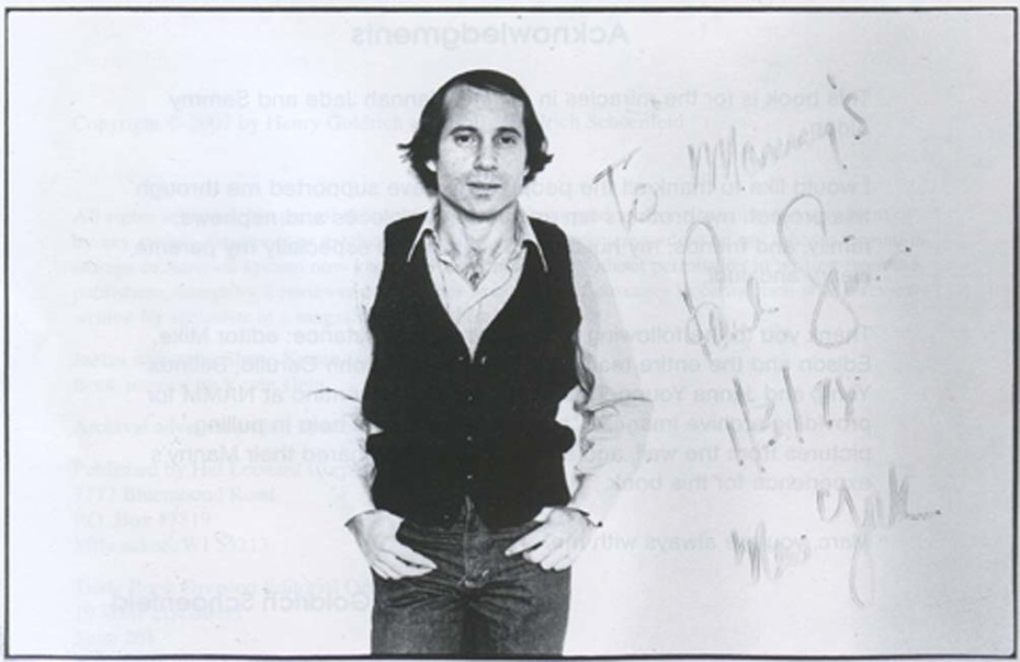 "Paul Simon from Holly Goldrich's book, ""The Wall of Fame"""