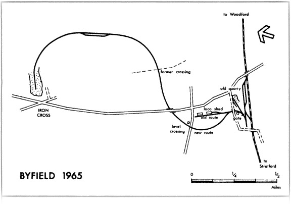 Byfield Ironstone Railway Map