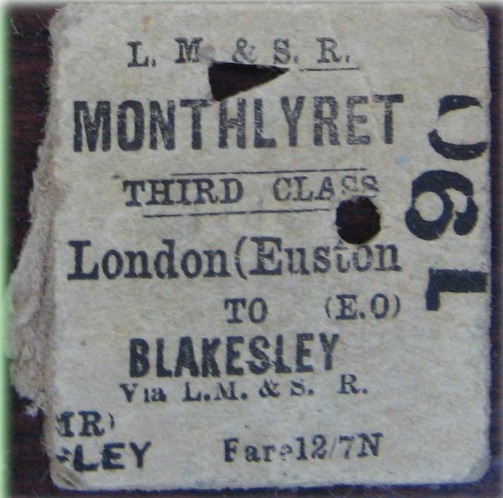 Euston - Blakesley Monthly return ticket