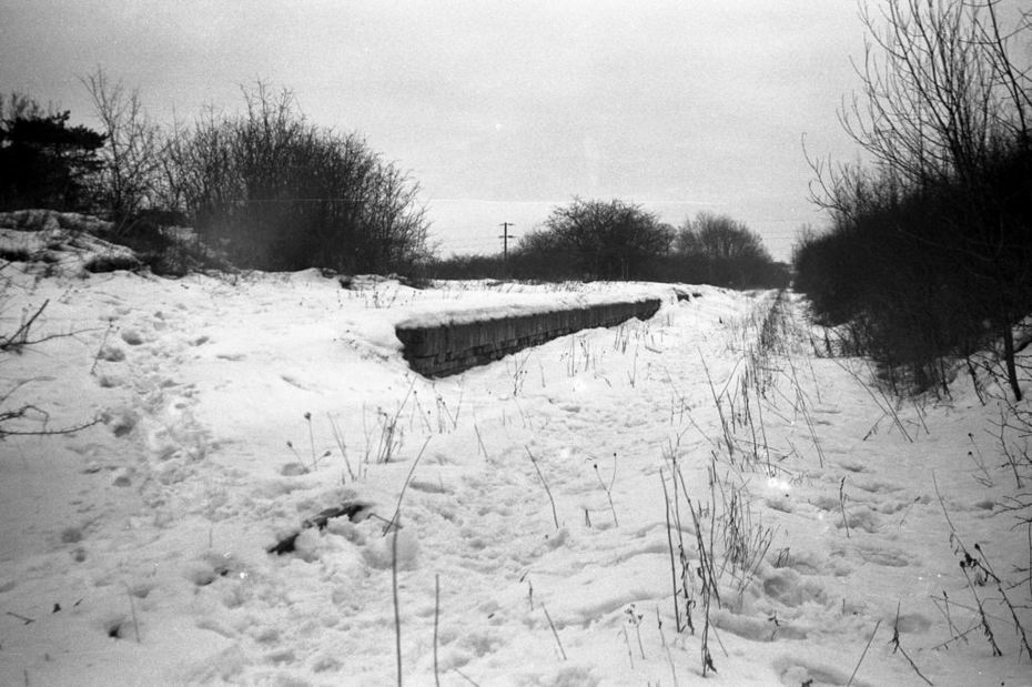 Remains of Salcey Forest SMJ station in winter 1962