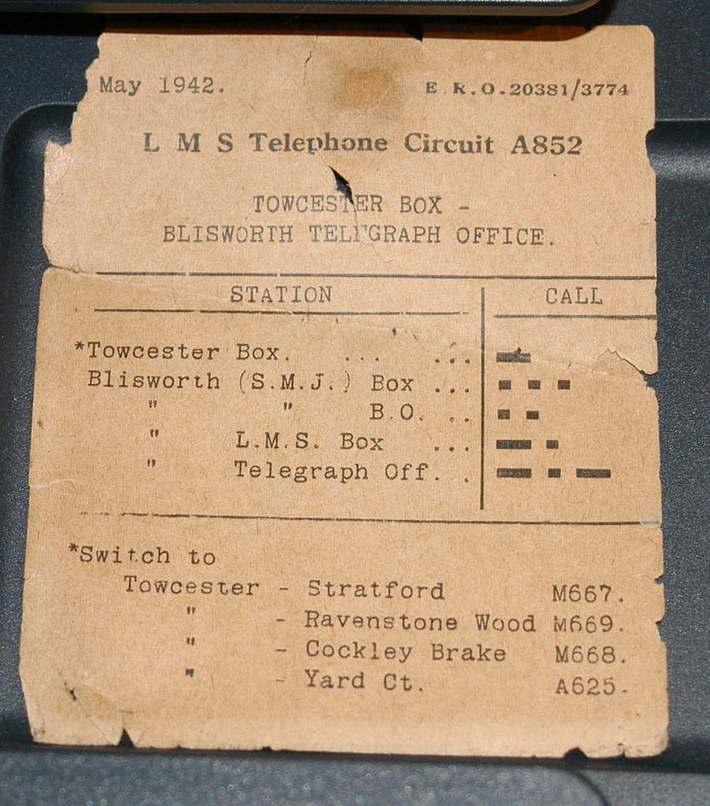 LMS Blisworth - Towcester SMJ documentation