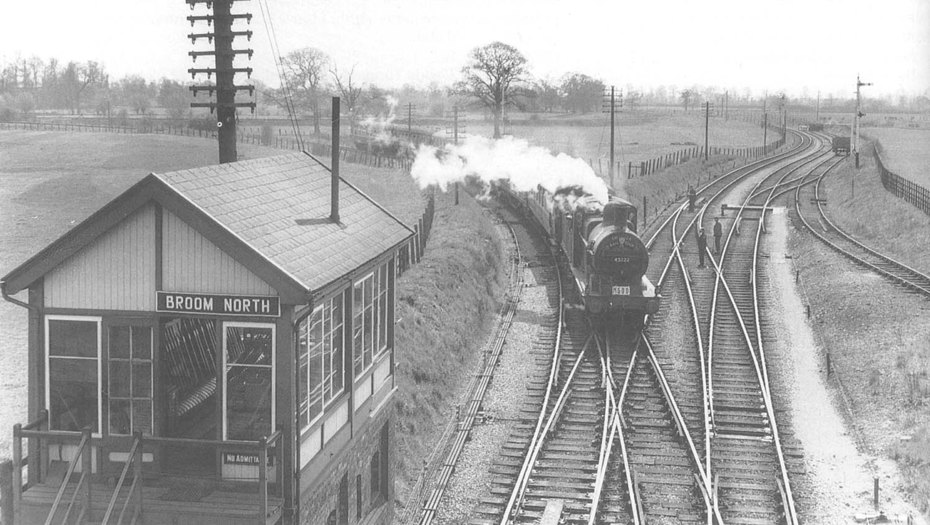 Ex-Midland Railway 3F 0-6-0 No 43222 at Broom North Signal Box