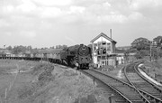 BR 9F No 92205 at Broom East Signal Box