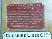 East and West Jct Railway sign