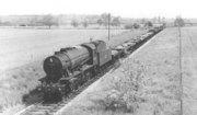 Ex-WD 2-8-0 'Austerity' No 90201 near Broom