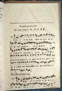 Petit manuscrit XIXème