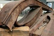 A very big bend in steel