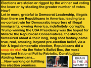 THE AMERICAN DEMOCRATIC PARTY'S COVERT ATTEMPT TO FALSE-FLAG STEAL AMERICA, INDEFINITELY, CORRUPTLY, VIA LONG, LONG TERM ILLEGAL IMMIGRATION VIA NON-ENFORCEMENT OF IMMIGRATION LAWS AND SUPPORTING UNCO