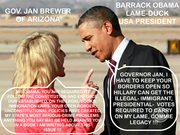 Commie OBAMA called out on the carpet for his USA Constitutional Violations/Treason by Arizona Governor Jan Brewer.