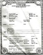 clyde  Garvey rice death cert