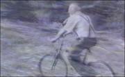Uri happily biking