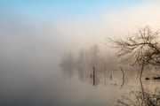 Another foggy St. Mary's Lake