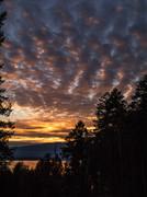 Saturday evening's sunset
