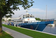 Keweenaw Star - First vessel to use new Ludington Michigan's  transient dock