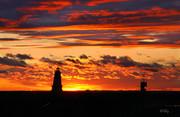Ludington lighthouse & sunset. Michigan