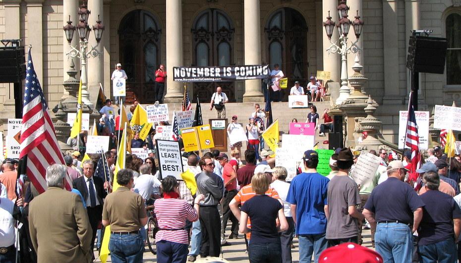 4-15-10 Lansing Michigan Tea Party rally 4