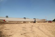 Wind turbines, Mason County Michigan. Blades