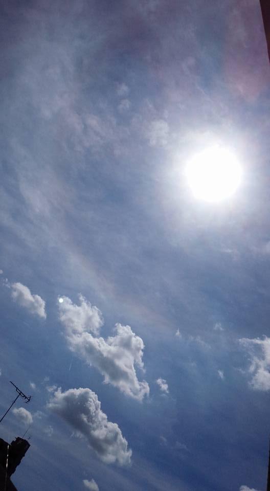 2015.8.18 名古屋にまた日暈が。。。