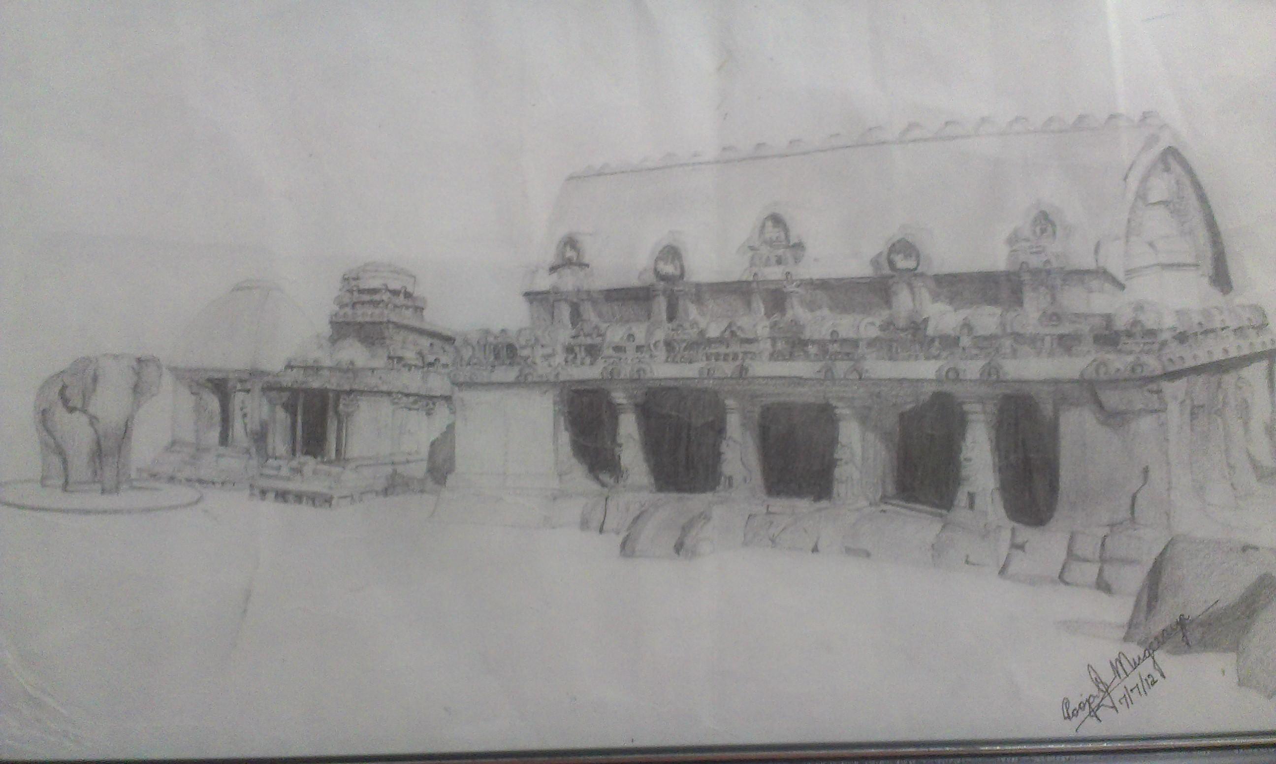 Sketch Mahabalipuram