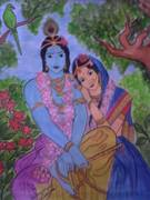 Tried Krishna and Radha, a gift to my parents.