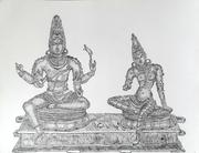 Shiva and Uma - Chola Bronze
