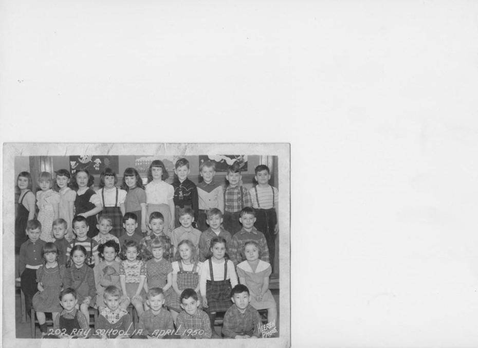 Ray School         1st grade, Chicago, 1950