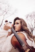 Maggie Baugh - white fiddle