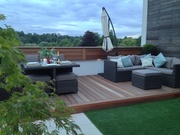 Evening on the roof terrace