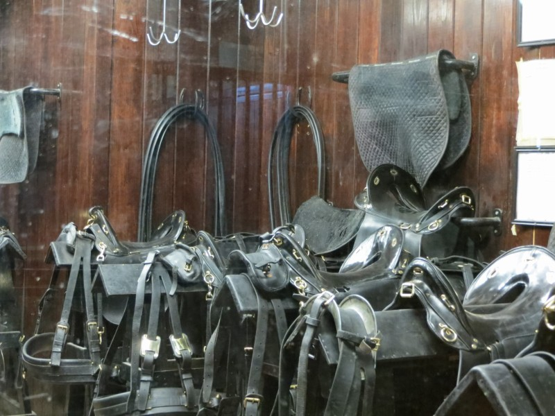 The immaculate tack room of the Caisson Platoon.