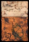 "Tabernaculum #1 (60""x40"") acrylic & pigment on canvas"