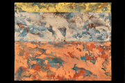 "Tabernaculum #4 (48""x60"") acrylic & pigment on canvas"