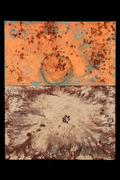 "Tabernaculum #2 (60""x48"") acrylic & pigment on canvas"