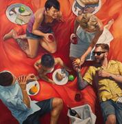 """The Eucharist"" Oil on Canvas, 72x72"" 2013"