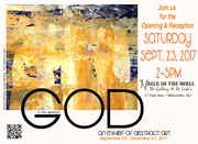 Robert Eustace... Poster no.1 for the exhibit: 'GOD in the Abstract'