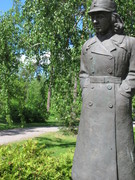 Lotta Statue in Syväranta Lottamuseum garden in Tuusula Finland