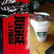 #MemorialDay morning J. Fuego The Judge and coffee.