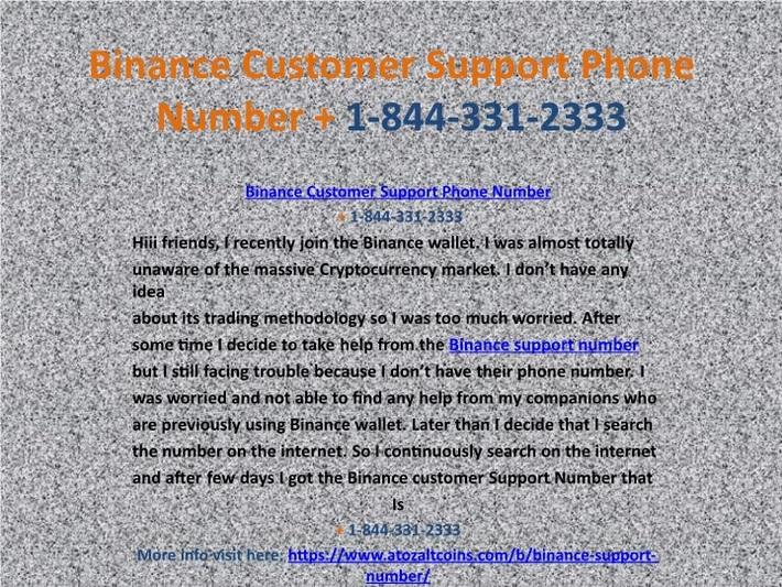 Binance Support Number 【+1 (844) 331-2333】Binance Customer Phone Number