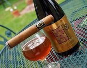 Yesterday was a good day... Quesada Reserva Privada with some Nirth Coast Grand Cru (Agave Nectar Ale aged in Bourbon Barrels)