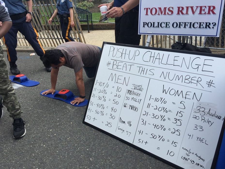 Toms River Food Fest Push-Up Challenge