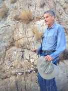Chris McKay with some stromatolites