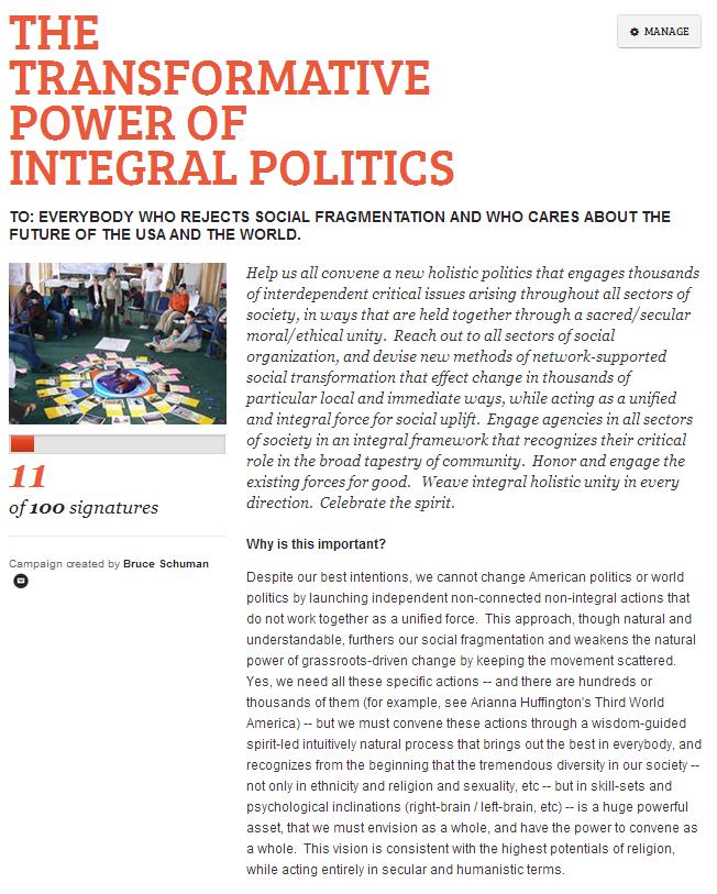 The Transformative Power of Integral Politics
