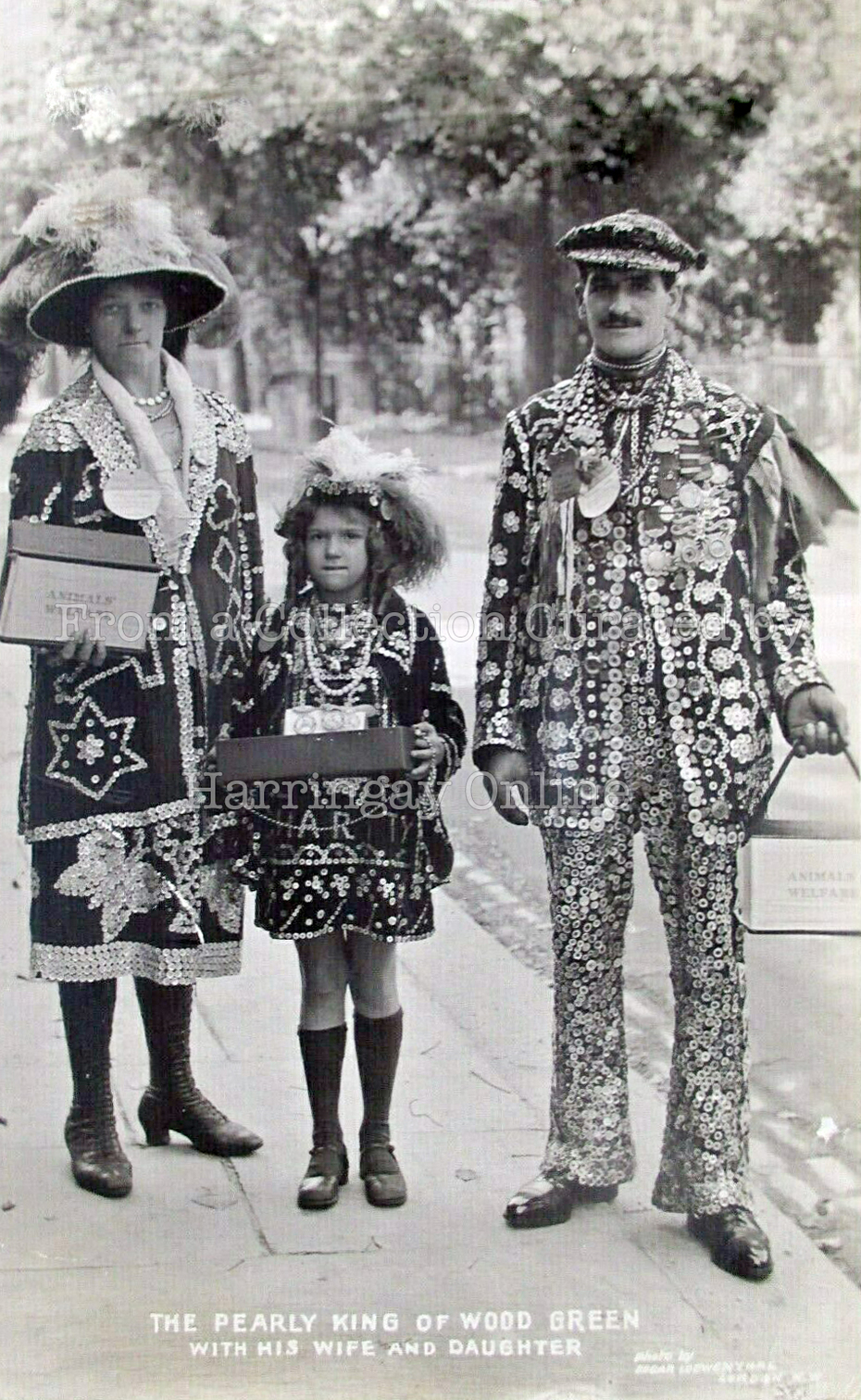 Pearly King of Wood Green c1905