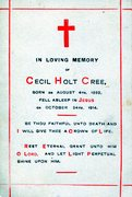 Cecil Holt Cree Death Card