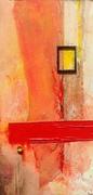 Juli, August 2013 156 cm x 78 cm Öl Lack Acryl Leinen auf Holz
