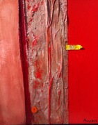 Dieses unheimlich geile Entzücken 2017 55 x 65cm Öl Acryl Wachs Leinen Farbtube auf Karton