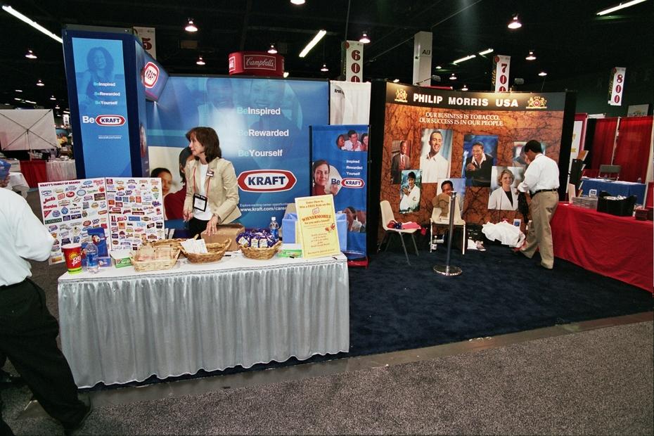 Job Fair - Kraft & Philip Morris Recruitment Displays